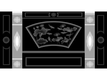 OBJQ078-JDP格式欧式整体背景墙精雕图电视背景墙电脑雕刻图背景墙浮雕精雕图(含灰度图)