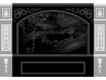 OBJQ085-JDP格式欧式整体背景墙精雕图电视背景墙电脑雕刻图背景墙浮雕精雕图(含灰度图)