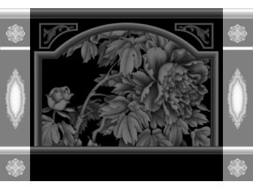OBJQ093-JDP格式欧式整体背景墙精雕图电视背景墙电脑雕刻图背景墙浮雕精雕图(含灰度图)