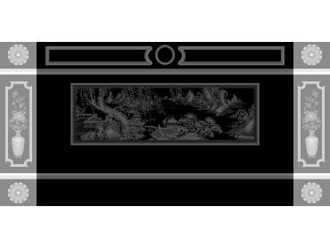 OBJQ103-JDP格式欧式整体背景墙精雕图电视背景墙电脑雕刻图背景墙浮雕精雕图(含灰度图)