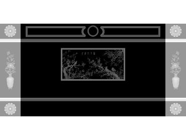 OBJQ106-JDP格式欧式整体背景墙精雕图电视背景墙电脑雕刻图背景墙浮雕精雕图(含灰度图)