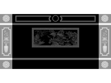 OBJQ108-JDP格式欧式整体背景墙精雕图电视背景墙电脑雕刻图背景墙浮雕精雕图(含灰度图)
