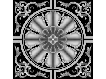 OBJQ126-JDP格式-欧式背景墙花纹精雕图欧式背景墙浮雕电脑精雕图欧式电视墙花纹雕刻图(含灰度图)