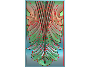 ZBZT004-JDP格式欧式柱托洋花精雕图罗马柱洋花精雕图柱头洋花雕刻图(含灰度图)