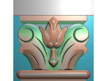 ZBZT009-JDP格式欧式柱托洋花精雕图罗马柱洋花精雕图柱头洋花雕刻图(含灰度图)