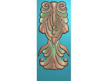 ZBZT011-JDP格式欧式柱托洋花精雕图罗马柱洋花精雕图柱头洋花雕刻图(含灰度图)