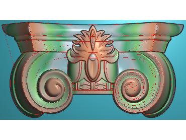 ZBZT020-JDP格式欧式柱托洋花精雕图罗马柱洋花精雕图柱头洋花雕刻图(含灰度图)