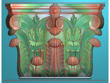 ZBZT023-JDP格式欧式柱托洋花精雕图罗马柱洋花精雕图柱头洋花雕刻图(含灰度图)
