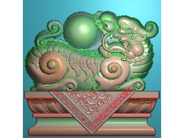 ZBZT026-JDP格式欧式柱托洋花精雕图罗马柱洋花精雕图柱头洋花雕刻图(含灰度图)