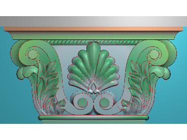 ZBZT027-JDP格式欧式柱托洋花精雕图罗马柱洋花精雕图柱头洋花雕刻图(含灰度图)