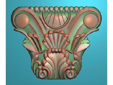 ZBZT028-JDP格式欧式柱托洋花精雕图罗马柱洋花精雕图柱头洋花雕刻图(含灰度图)
