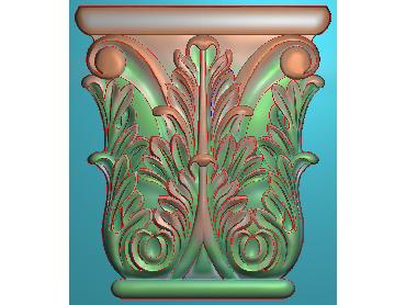 ZBZT029-JDP格式欧式柱托洋花精雕图罗马柱洋花精雕图柱头洋花雕刻图(含灰度图)