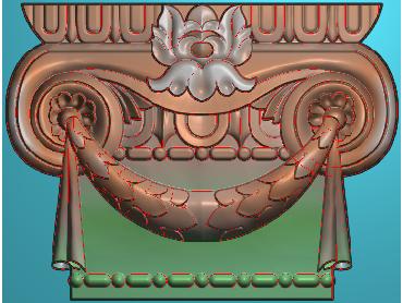 ZBZT038-JDP格式欧式柱托洋花精雕图罗马柱洋花精雕图柱头洋花雕刻图(含灰度图)