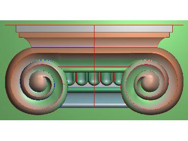 ZBZT039-JDP格式欧式柱托洋花精雕图罗马柱洋花精雕图柱头洋花雕刻图(含灰度图)