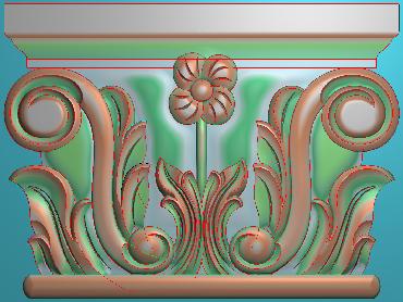 ZBZT041-JDP格式欧式柱托洋花精雕图罗马柱洋花精雕图柱头洋花雕刻图(含灰度图)