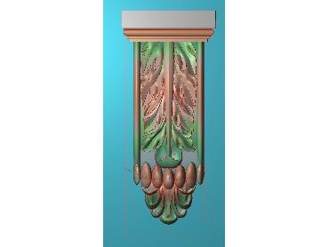 ZBZT052-JDP格式欧式柱托洋花精雕图罗马柱洋花精雕图柱头洋花雕刻图(含灰度图)