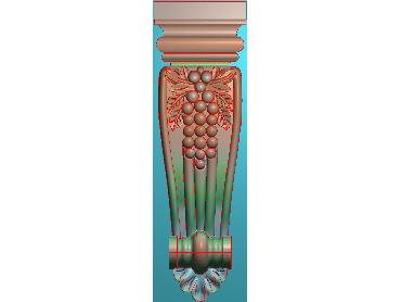 ZBZT053-JDP格式欧式柱托洋花精雕图罗马柱洋花精雕图柱头洋花雕刻图(含灰度图)