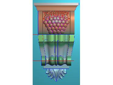 ZBZT059-JDP格式欧式柱托洋花精雕图罗马柱洋花精雕图柱头洋花雕刻图(含灰度图)