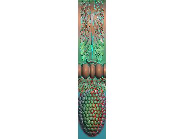 ZBZT062-JDP格式欧式柱托洋花精雕图罗马柱洋花精雕图柱头洋花雕刻图(含灰度图)