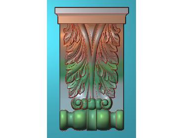 ZBZT063-JDP格式欧式柱托洋花精雕图罗马柱洋花精雕图柱头洋花雕刻图(含灰度图)