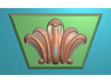 ZBZT065-JDP格式欧式柱托洋花精雕图罗马柱洋花精雕图柱头洋花雕刻图(含灰度图)