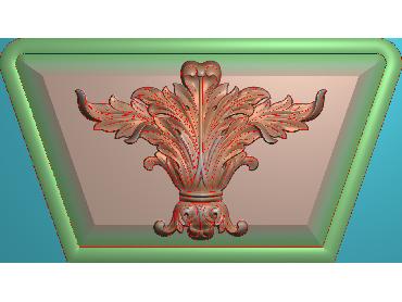 ZBZT066-JDP格式欧式柱托洋花精雕图罗马柱洋花精雕图柱头洋花雕刻图(含灰度图)
