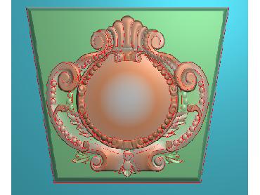 ZBZT068-JDP格式欧式柱托洋花精雕图罗马柱洋花精雕图柱头洋花雕刻图(含灰度图)