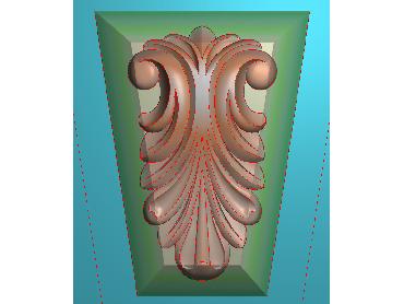 ZBZT069-JDP格式欧式柱托洋花精雕图罗马柱洋花精雕图柱头洋花雕刻图(含灰度图)