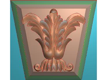 ZBZT070-JDP格式欧式柱托洋花精雕图罗马柱洋花精雕图柱头洋花雕刻图(含灰度图)