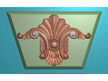 ZBZT072-JDP格式欧式柱托洋花精雕图罗马柱洋花精雕图柱头洋花雕刻图(含灰度图)