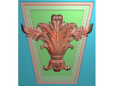 ZBZT077-JDP格式欧式柱托洋花精雕图罗马柱洋花精雕图柱头洋花雕刻图(含灰度图)