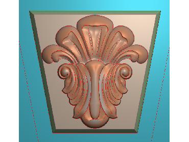 ZBZT078-JDP格式欧式柱托洋花精雕图罗马柱洋花精雕图柱头洋花雕刻图(含灰度图)