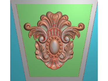 ZBZT080-JDP格式欧式柱托洋花精雕图罗马柱洋花精雕图柱头洋花雕刻图(含灰度图)