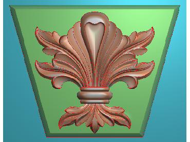 ZBZT089-JDP格式欧式柱托洋花精雕图罗马柱洋花精雕图柱头洋花雕刻图(含灰度图)