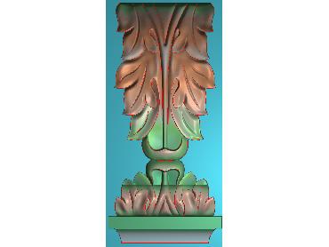 ZBZT095-JDP格式欧式柱托洋花精雕图罗马柱洋花精雕图柱头洋花雕刻图
