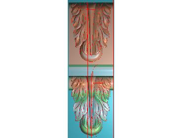 ZBZT097-JDP格式欧式柱托洋花精雕图罗马柱洋花精雕图柱头