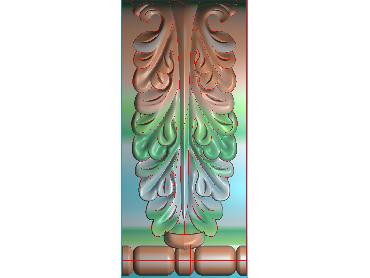 ZBZT098-JDP格式欧式柱托洋花精雕图罗马柱洋花精雕图柱头洋花雕刻图