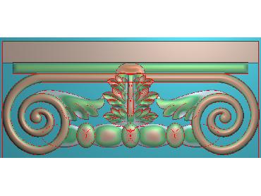 ZBZT099-JDP格式欧式柱托洋花精雕图罗马柱洋花精雕图柱头洋花雕刻图