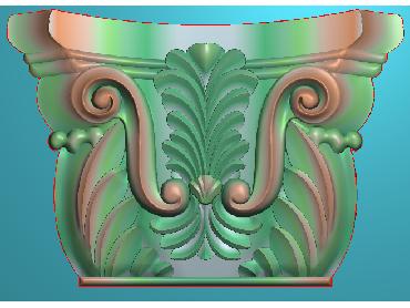 ZBZT103-JDP格式欧式柱托洋花精雕图罗马柱洋花精雕图柱头洋花雕刻图
