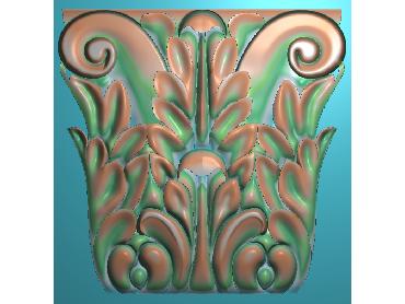 ZBZT106-JDP格式欧式柱托洋花精雕图罗马柱洋花精雕图柱头洋花雕刻图