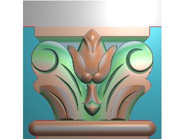 ZBZT107-JDP格式欧式柱托洋花精雕图罗马柱洋花精雕图柱头洋花雕刻图