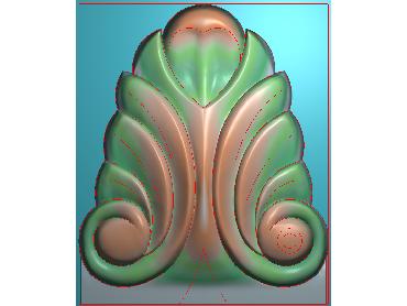 ZBZT113-JDP格式欧式柱托洋花精雕图罗马柱洋花精雕图柱头洋花雕刻图
