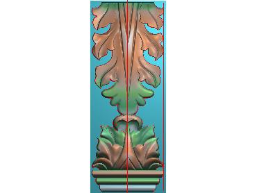 ZBZT129-JDP格式欧式柱托洋花精雕图罗马柱洋花精雕图柱头洋花雕刻图