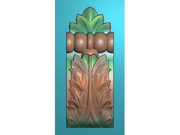 ZBZT138-JDP格式欧式柱托洋花精雕图罗马柱洋花精雕图柱头洋花雕刻图(含灰度图)
