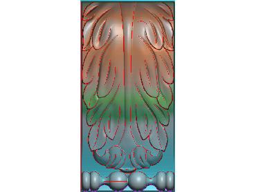 ZBZT142-JDP格式欧式柱托洋花精雕图罗马柱洋花精雕图柱头洋花雕刻图(含灰度图)