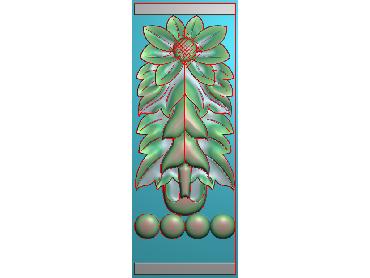 ZBZT149-JDP格式欧式柱托洋花精雕图罗马柱洋花精雕图柱头洋花雕刻图(含灰度图)