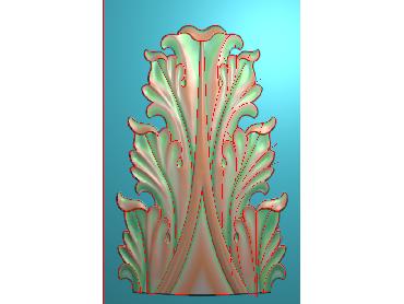 ZBZT154-JDP格式欧式柱托洋花精雕图罗马柱洋花精雕图柱头洋花雕刻图(含灰度图)