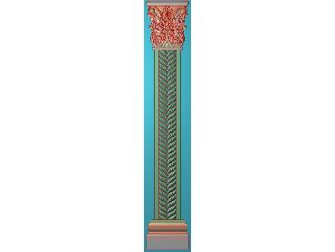 ZBZT160-JDP格式欧式柱板洋花精雕图罗马柱板洋花精雕图长条柱板洋花雕刻图(含灰度图)