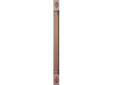 ZBZT162-JDP格式欧式柱板洋花精雕图罗马柱板洋花精雕图长条柱板洋花雕刻图(含灰度图)