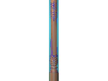 ZBZT163-JDP格式欧式柱板洋花精雕图罗马柱板洋花精雕图长条柱板洋花雕刻图(含灰度图)
